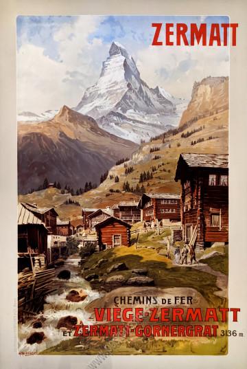 Chemin de fer Viege-Zermatt : Zermatt