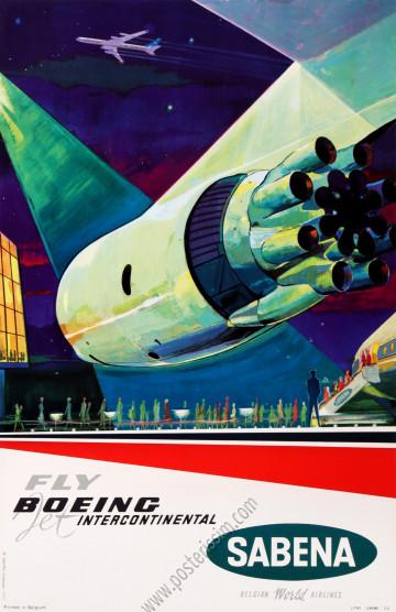 Sabena : Fly Boeing Jet Intercontinental