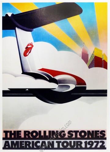 Affiche originale The Rolling Stones American Tour 1972