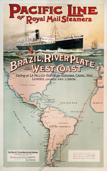 Pacific Line of Royal Mail Steamers : Brazil, River Plate and West Coast