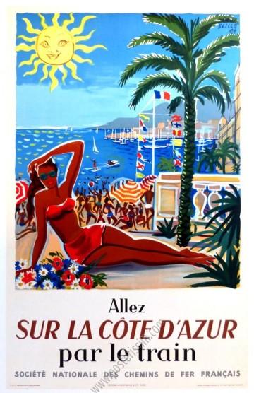 Allez sur la Côte d'Azur par le train