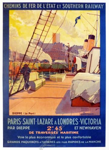 Chemins de fer de l'Etat et Southern Railway : Paris Saint Lazare à Londres Victoria