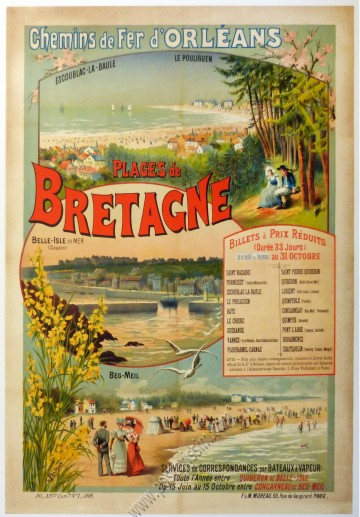 Chemin de fer d'Orléans : Plages de Bretagne