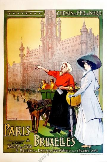 Chemin de fer du Nord : Paris à Bruxelles