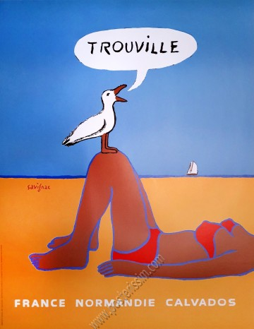 """Trouville, """"la baigneuse"""""""