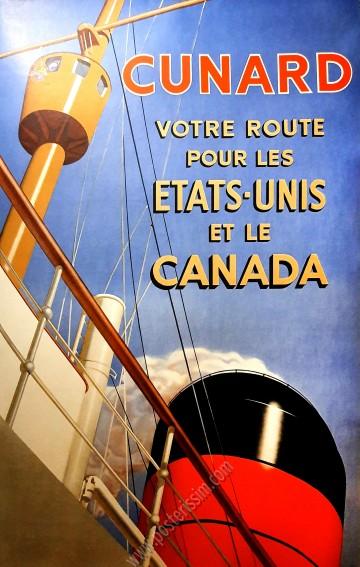 Cunard : Etats-Unis - Canada