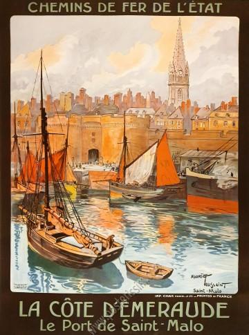 La Côte d'Emeraude : Le port de Saint-Malo